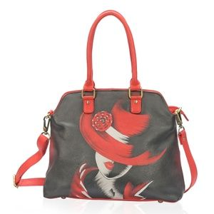 Red Hat Leather Shoulder Bag